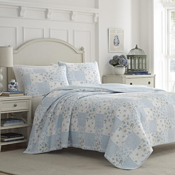 Kenna 100% Cotton 3 Piece Reversible Quilt Set by Laura Ashley Home by Laura Ashley Home